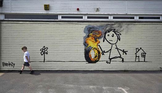 Banksy bedankt sich bei Schülern