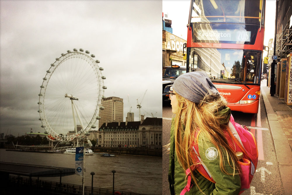 London Eye und Doppeldecker
