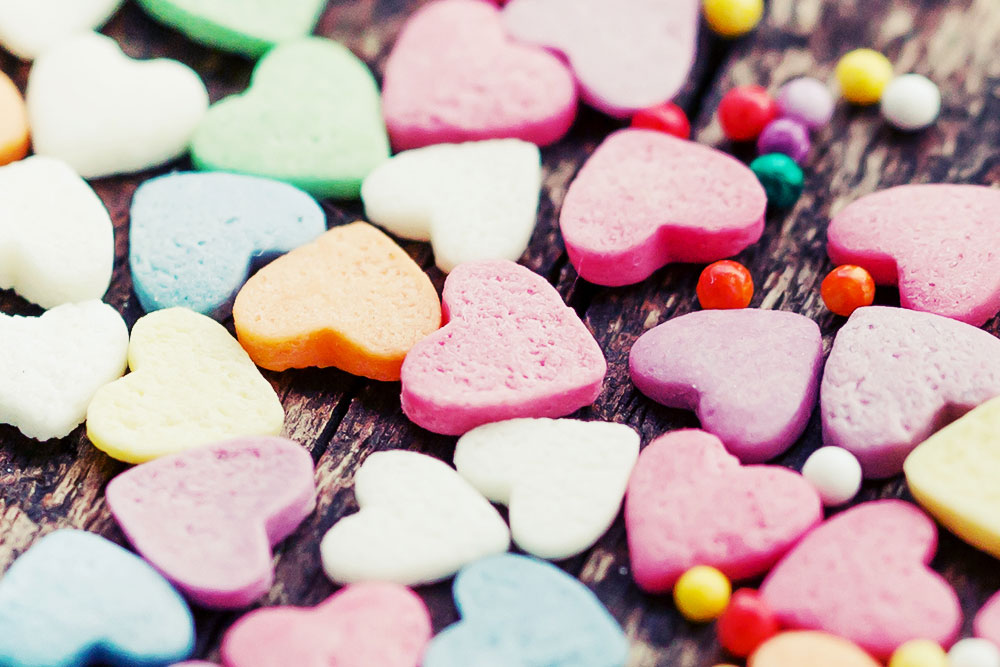 Traubenzucker Herzen