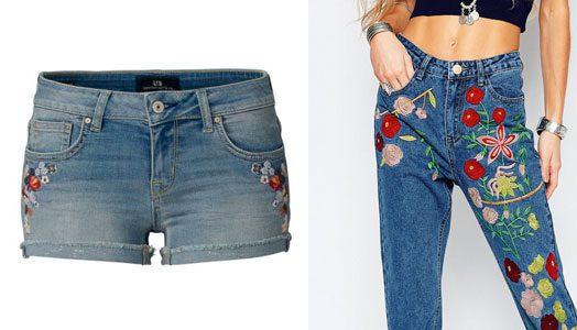 Trend 2017 – Jeans mit Stickereien