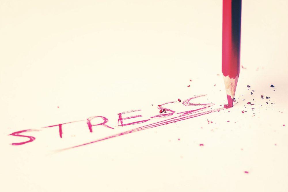 Schriftzug Stress